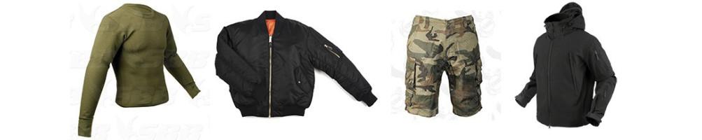 Abbigliamento Militare, da caccia e softair