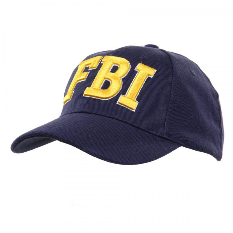Cappello da Baseball FBI americano USA con ricamo Giallo Oro