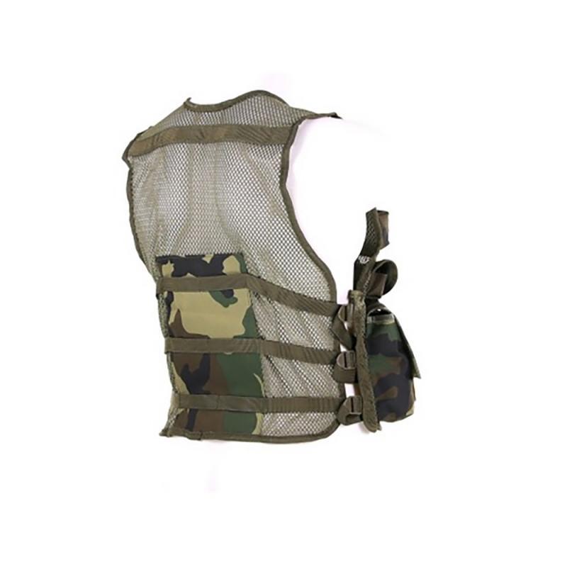 Gilet tattico militare mimetico da bambino 101 INC Woodland o ACU softair