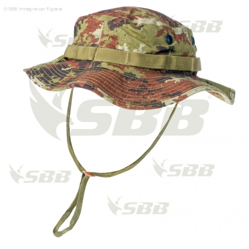 07c12aeeff7 Cappello Jungle 100% Cotone Ripstop Vegetato Militare Softair Caccia ...